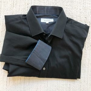 Ted Baker   Endurance Dress Shirt   Black   32/33